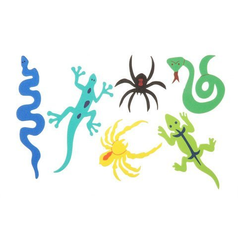 Bulk Buy: Darice Foamies Stickers Bugs and Snakes 24 pieces (3-Pack) 106-1490 (Bugs 24 Piece)