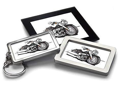 Koolart - Llavero con diseño de Harley Davidson Fatboy ...