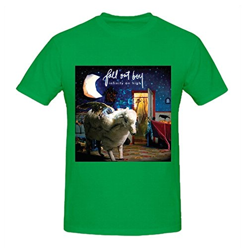 Fall Out Boy Infinity On High Big Men Tee Shirts Round Neck Green
