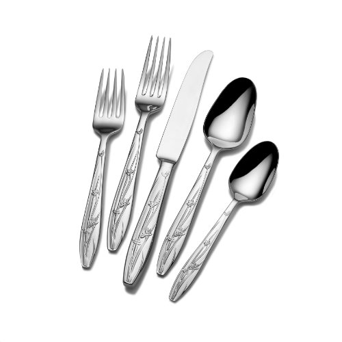 Mikasa 5047929 Pure Red 5-Piece Stainless Steel Flatware Set, Service for 1