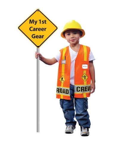 [My First Career Gear - Road Crew Toddler Costume] (Man Construction Worker Costume)