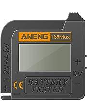 Tomshin Testador de bateria 168MAX Testador de display digital Verificador de tensão da bateria Ferramenta de teste de capacidade da bateria Testador universal para verificação de bateria AAA AA