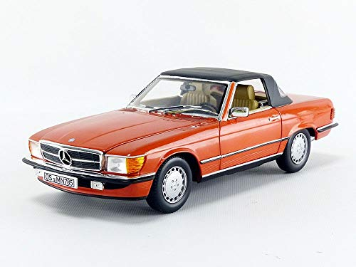 Norev 1986 Mercedes Benz 300 SL Coupe Inca Red/ Orange 1/18 Diecast Model Car 183467