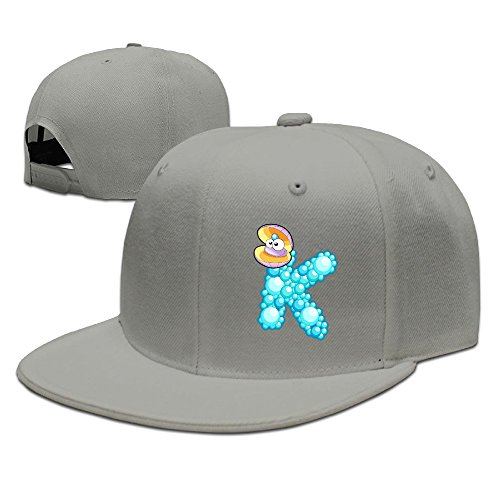 ZOENA Ocean Animal Sea Shell Alphabet K Cotton Hats Tennis Caps Hats For Outdoor Sports -