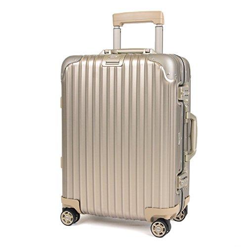 (リモワ)RIMOWA スーツケース 923.53.03.4 Topas Titanium トパーズ チタニウム Titanium 40cm/34L キャビン 4輪 取寄商品 [並行輸入品] B072553J62