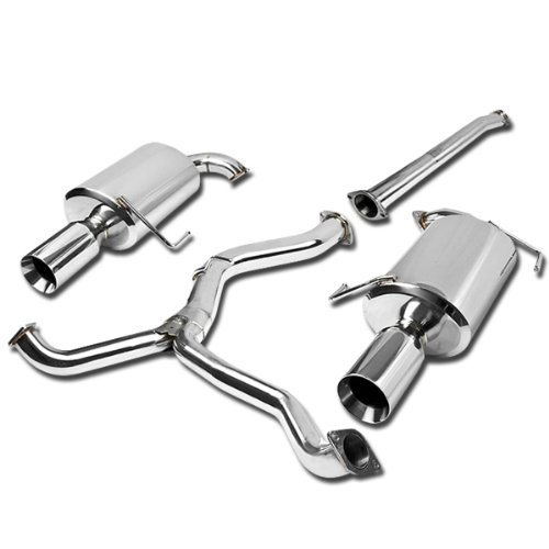 DNA Motoring CBE-LEGACY-T2-SS CBELEGACYT2SS Stainless Steel Catback Exhaust System ()