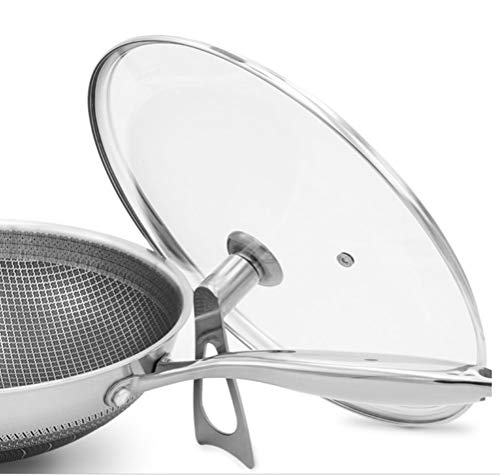 WYQSZ Wok-stainless Steel Non-stick Wok Flat-bottom No Fumes Uncoated Pot Home Cooking Multi-function Wok -fry pan 2365 (Design : A, Size : 349cm) by WYQSZ (Image #5)