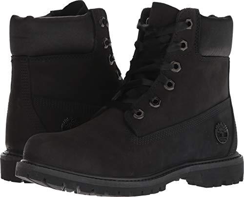 """Timberland Women's 6"""" Premium Waterproof Boot Black Nubuck 6 B US"""