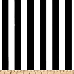 1 in. Stripe Black/White Fabric By The Yard