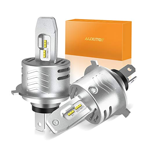 H4 LED Headlight Bulbs Conversion Kit - AUXITO H4 9003 Replacement Lamps 6000K Xenon White 12000lm Extremely Bright All-in-One 1:1 Design (2 Yr Warranty,Pack of 2)
