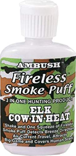 Moccasin Joe Fireless Smoke Puff Elk Wind Checker-1.5 oz ()