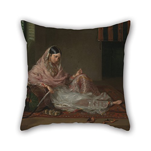 Loveloveu Cushion Cases Of Oil Painting Francesco Renaldi - Muslim Lady Reclining,for Family,monther,dining Room,office,wife,family 18 X 18 Inches / 45 By 45 Cm(double Sides) by Loveloveu