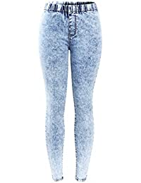 New Plus Size Ultra Stretchy Acid Washed Jeans Woman Denim Pants Trousers For Women Pencil Skinny