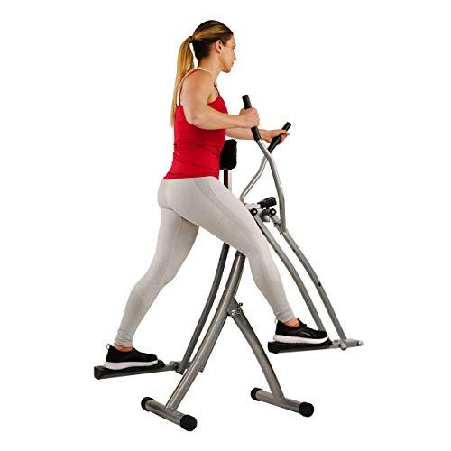 Sunny Health & Fitness SF-E902 Air Walk Trainer Elliptical Machine Glider w/ LCD Monitor