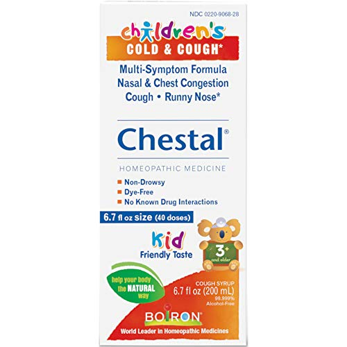 Boiron Children's Cold & Cough Chestal Homeopathic Medicine, 6.7 Ounces each (Value Pack of 12)