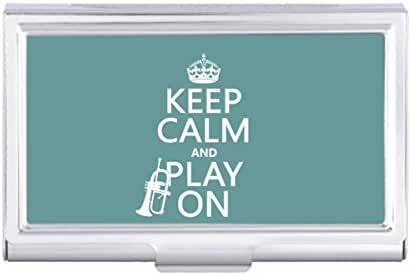 Keep Calm and Play On cornet any color Card Holder