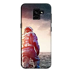 Cover It Up - Space Water Walk Galaxy A7 2018 Hard Case