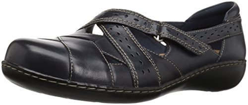 CLARKS Women's Ashland Spin Q Slip-On Loafer Navy 8.5 B(M) US