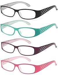 Pack of 4 Pattern Color Frame Readers Spring Hinge...