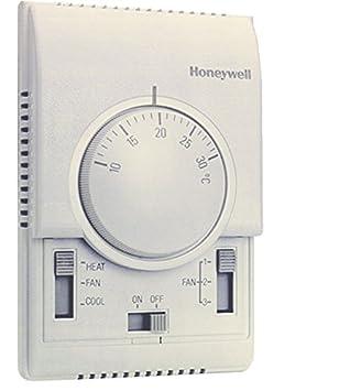 Honeywell; T6373B1015; Termostato XE-70, fan-coil a 2 tubos; Control de válvula y ventilador; ON/OFF, frío/calor: Amazon.es: Bricolaje y herramientas