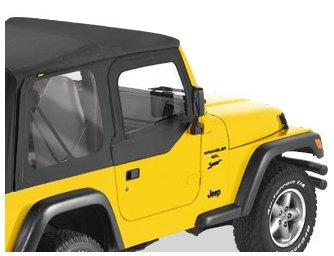 Bestop 53121-15 Black Denim Fabric Replacement Upper Door Skin for 1997-2006 Wrangler TJ