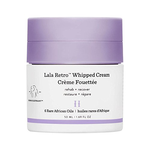 Drunk Elephant Lala Retro Whipped Cream - Anti-Aging Moisturizer for Dry Skin (1.69 fl oz)