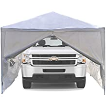 ALEKO 20 x 10 Portable Garage Carport Car Shelter Canopy, White