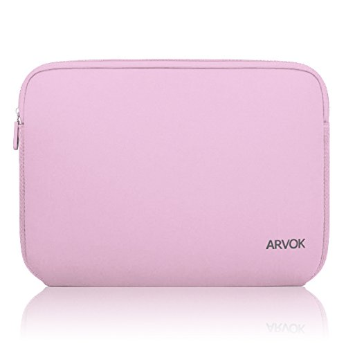 Arvok 11-12 Inch Laptop Sleeve Multi-Color & Size Choices Case/Water-Resistant Neoprene Notebook Computer Pocket Tablet Briefcase Carrying Bag/Pouch Skin Cover for Acer/Asus/Dell/Lenovo, Pink