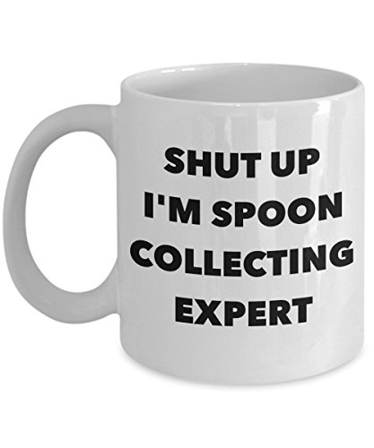 Funny 11Oz Coffee Mug, Shut Up I'M Spoon Collecting Expert for Dad, Grandpa, Husband From Son, Daughter, Wife for Coffee & Tea (Dad And Son Robot Costume)