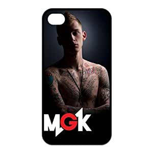 Hipster MGK Machine Gun Kelly Pattern Design Solid Rubber Customized Cover Case for iPhone 4 4s 4s-linda693