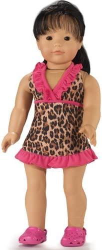 Doll Not Included Leopard Cover Dress Fits 18 Inch American Girl Dolls