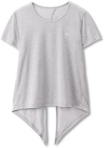 フィットネスウェア バックスリットTシャツ DB77327 [レディース] DB77327 Z ミックスグレー L