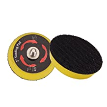 Valianto 2-inch Thread 5/16''-24 Buffing Pads Automobile Beauty Hook&Loop Abrasive Disc, Pack of 10 PCS