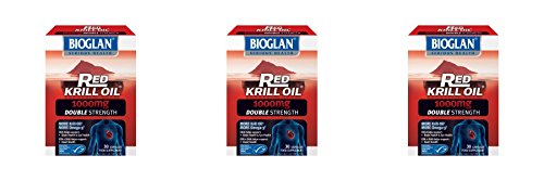 (3 PACK) - Bioglan Red Krill Oil 1000Mg Capsules - Double Strength | 30s | 3 PACK - SUPER SAVER - SAVE MONEY by PharmaCare Europe Ltd