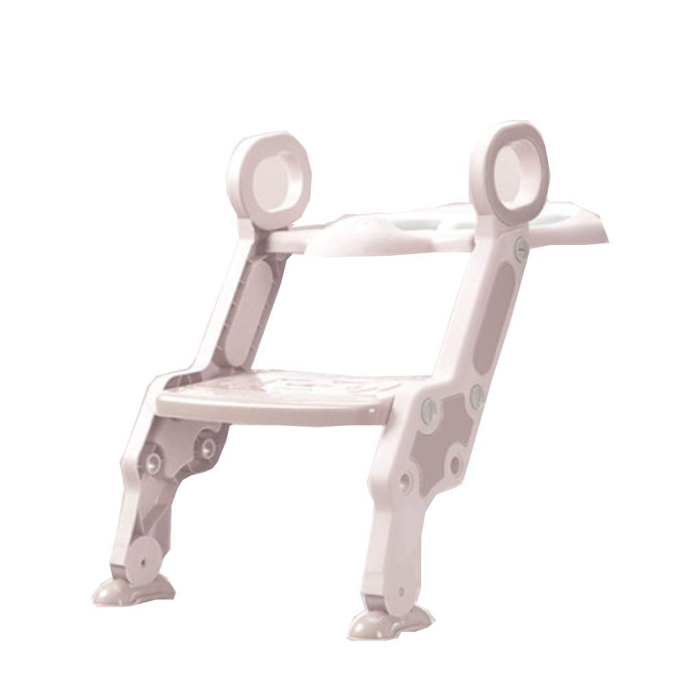Potty Training Toilet Ladder Seat Steps Assistant Potty for Toddler Child Toilet Trainer Sturdy, Comfortable and Safe - Fun & Functional Trainer for Kids' Independence on The Toilet,cherrypowder
