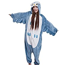 Animal Cosplay Costume Unisex Children Adult Owl Onesie Pajamas