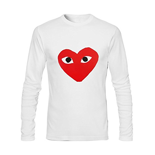 875f0a21ef12 Anydover Comme Des Garcons For 2016 Mens 100% Cotton Crew Neck Long Sleeve T -