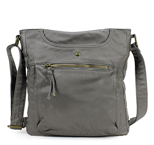 Scarleton Soft Multi Pocket Crossbody Bag H181224 - Ash