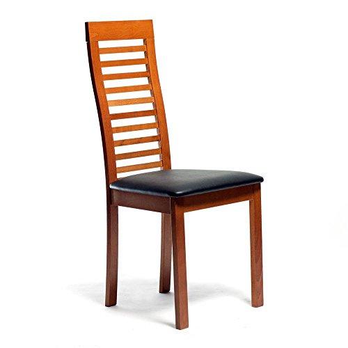Aeon 2432-Cherry Denver Solid Beechwood Ladder Back Chair, Cherry Finish
