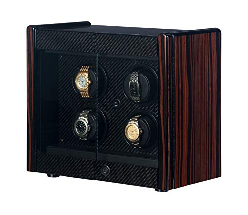 - Orbita - Avanti 4 Macassar/Carbon Fiber | Programmable Watch Winder