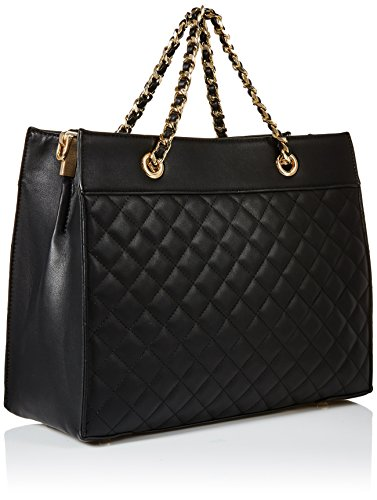 Dayne Satchel Nine West Black Bag Quilted West Tote Black Nine PwZOq7x