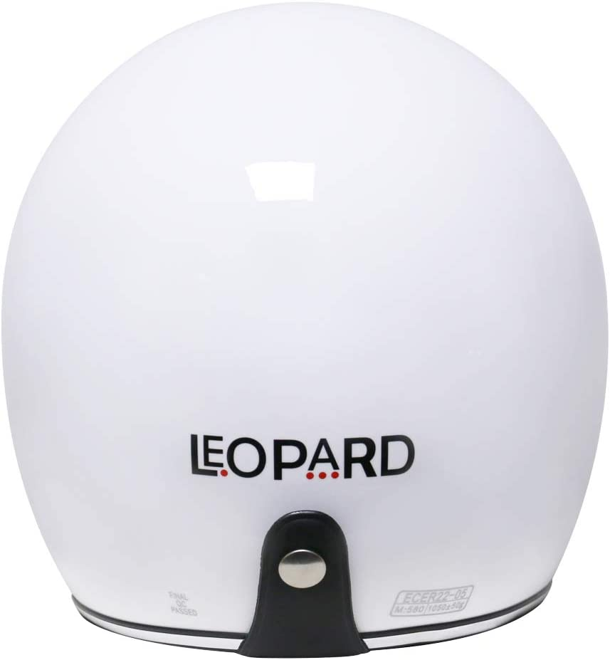 Leopard LEO-601 Offenes Gesicht Jethelme mit Sonnenblende Motorradhelm Damen und Herren ECE Genehmigt