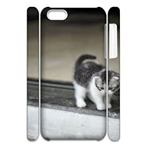 Custom Cover Case with Hard Shell Protection for Iphone 5C 3D case with Stay Meng cat lxa#469453