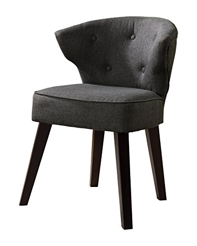 "Kings Brand Furniture Casual Accent Chair, Grey/Dark Cherry - Kings Brand Grey With Dark Cherry Legs Accent Casual Accent Chair Grey fabric, dark cherry finish wood legs Dimension: 19.75""W x 22.5""D x 32""H - living-room-furniture, living-room, accent-chairs - 41UAVX46JAL -"