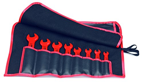 KNIPEX 98 99 13 S4 8 Piece 1,000V Sae Insulated Open End Wrench Set