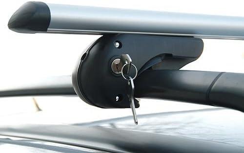 MENABO Brio XL Baca Barras de Techo 135 cm hasta 90 kg TÃœV/GS: Amazon.es: Coche y moto