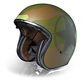 Casco Jet – Custom/Cafè Racer – Origine Sprint XS Army Green