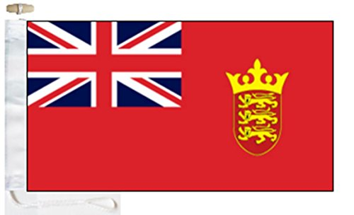 Jersey Red Ensign Flag - 1 Yard  - Rope and Toggle