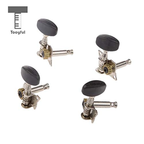 Value-5-Star - Best promotion 2R 2L Black Button Tuning Pegs Machine Heads for Ukulele 4 Strings Oval Professional Guitars Musical Part