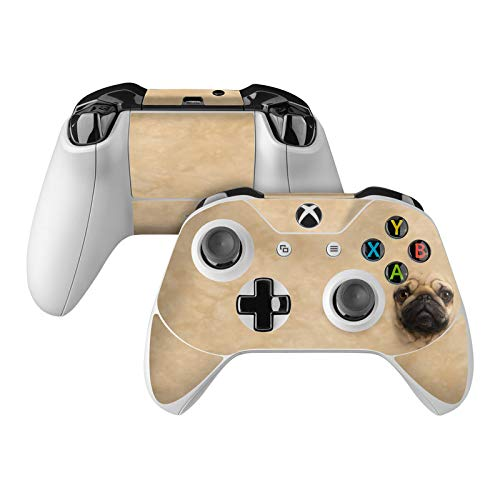Pug Skin Decal Compatible with Microsoft Xbox One and One S Controller - Full Cover Wrap for Extra Grip and Protection from DecalGirl